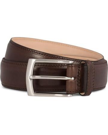 Loake 1880 Schlichte Gürtel von . Grösse: W34/85cm. Farbe: Braun.  Henry Leather Belt 3,3 cm Dark Brown Herren braun