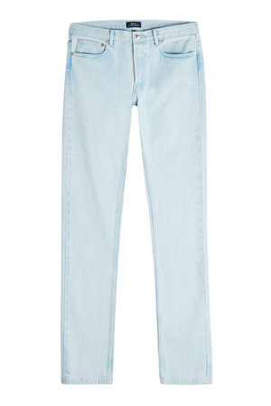 A.P.C.  Slim Leg Jeans Petit New Standard aus Baumwolle grau