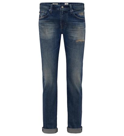 Adriano Goldschmied Jeans 'Matchbox Slim Straight' dunkelblau grau