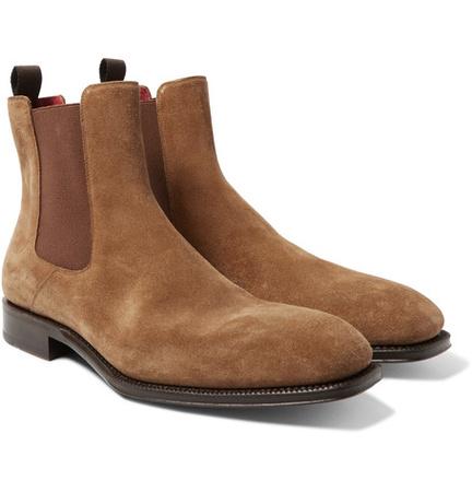 Alexander McQueen Suede Chelsea Boots - Tan braun