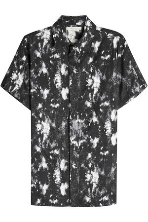 ALYX  STUDIO Bedrucktes Kurzarmhemd mit Baumwolle grau