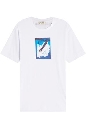 ALYX  STUDIO Bedrucktes T-Shirt aus Baumwolle grau