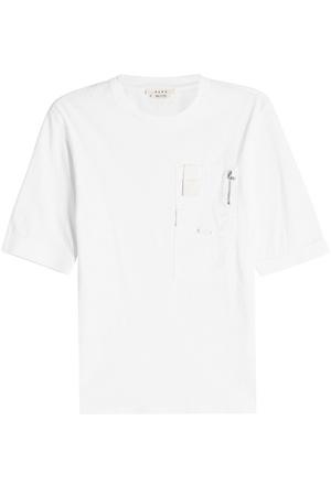 ALYX  STUDIO T-Shirt aus Baumwolle mit Applikationen weiss