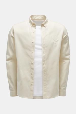 AMI  Paris - Herren - Casual Hemd Button-Down-Kragen creme