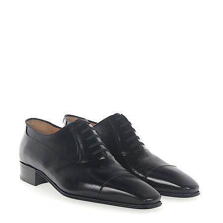 Artioli  Oxford Leder schwarz grau