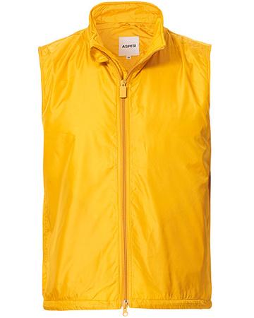 Aspesi Westen von . Grösse: S. Farbe: Gelb.  Vernes Nylon Vest Yellow