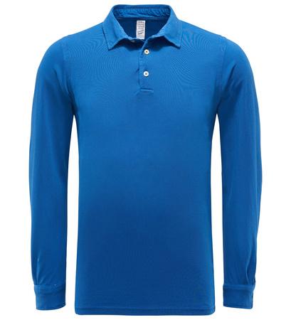 Authentic Original Vintage Style Longsleeve-Poloshirt 'Pietro' blau blau