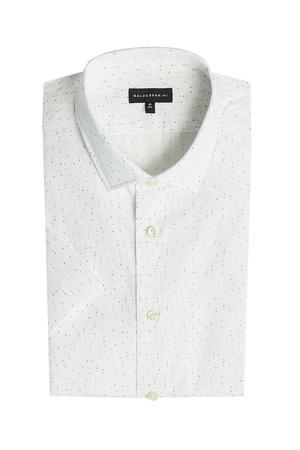Baldessarini  Gepunktetes Hemd aus Baumwolle grau