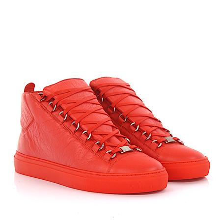 Balenciaga  Sneakers High Arena Leder orange rot