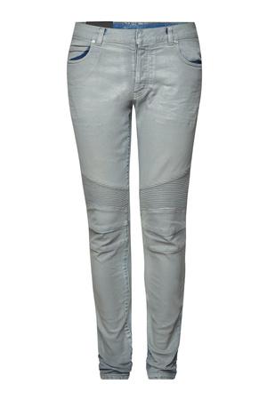 Balmain  Biker Slim Jeans mit schimmerndem Finish