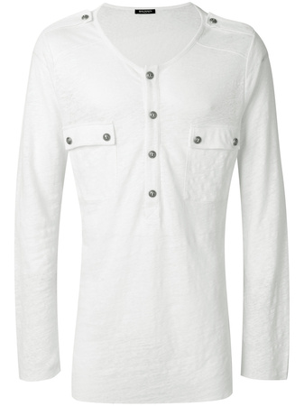 Balmain  chest pocket jumper - Weiß