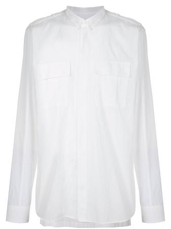 Balmain  chest pocket shirt - Weiß