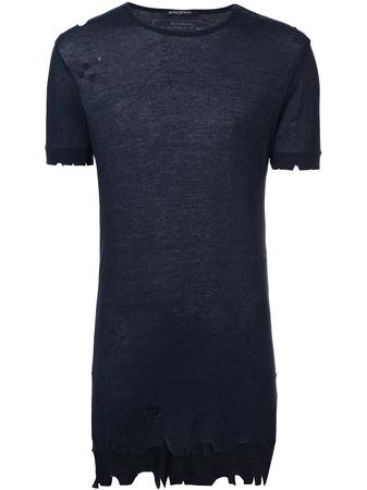 Balmain  distressed T-shirt - Blau