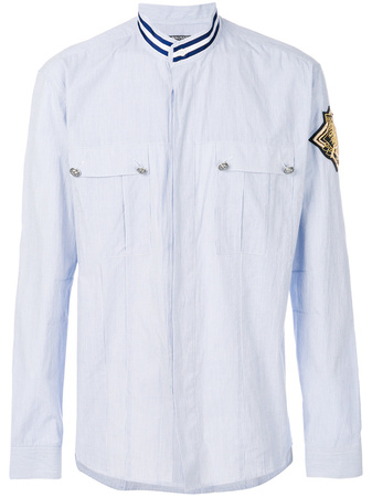 Balmain  patch shield shirt - Blau
