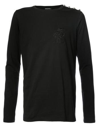 Balmain  Pullover mit Logo-Stickerei - Schwarz