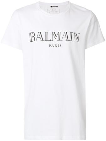 Balmain  T-Shirt mit Logo-Print - Weiß