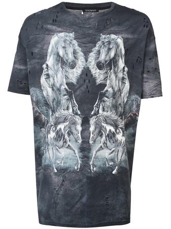 Balmain  T-Shirt mit Print - Schwarz