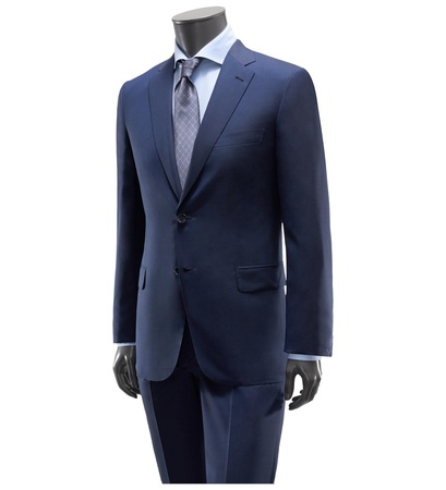 Brioni Anzug 'Brunico' dunkelblau grau