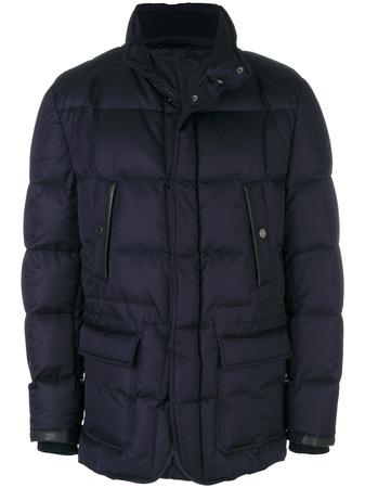 Brioni  button-up puffer jacket - Blau