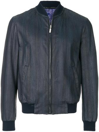 Brioni  long sleeved bomber jacket - Blau