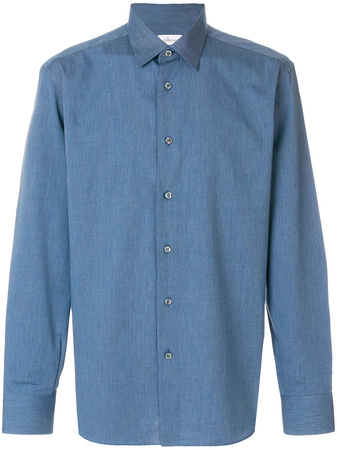 Brioni  long-sleeved shirt - Blau