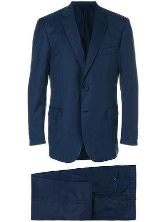 Brioni  stitch detail suit - Blau