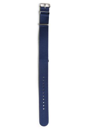 Briston  Nylon-Uhrenarmband mit Edelstahl-Schließe Herren Farbe: dunkelblau verfügbare Größe: M|L grau
