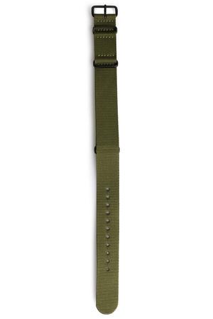Briston  Nylon-Uhrenarmband mit matter Schließe Herren Farbe: olive verfügbare Größe: M braun