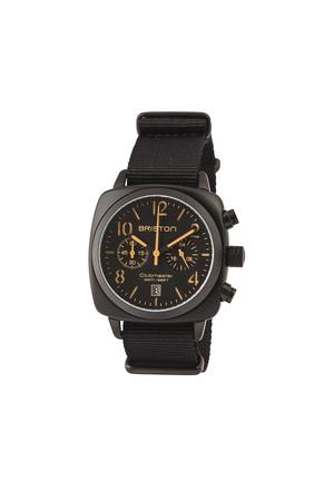 Briston  Uhr Clubmuster Classic Chronograph Schwarz Matt Herren Farbe: schwarz verfügbare Größe: One Size grau