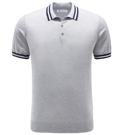 Brunello Cucinelli Jersey-Poloshirt grau