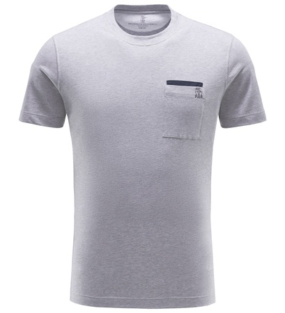 Brunello Cucinelli R-Neck T-Shirt grau