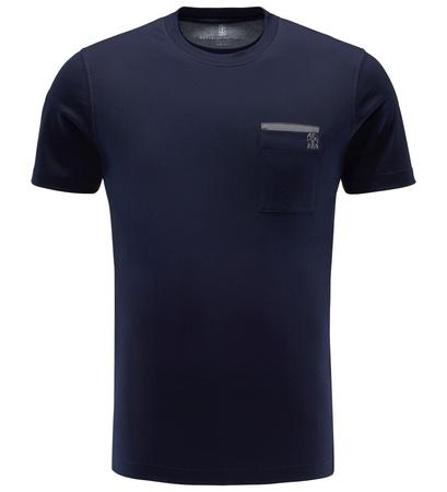 Brunello Cucinelli R-Neck T-Shirt navy
