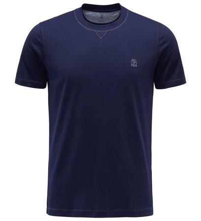 Brunello Cucinelli R-Neck T-Shirt navy grau