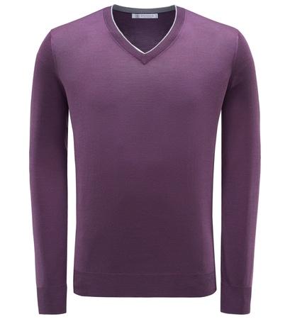 Brunello Cucinelli V-Neck Pullover violett