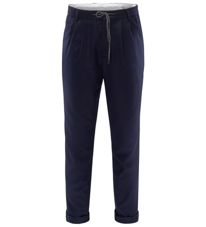 Brunello Cucinelli Woll-Joggpants 'Leisure Fit' navy