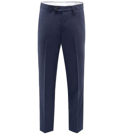 Brunello Cucinelli Wollhose 'Traditional Fit' navy