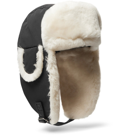 Canada Goose Shearling-trimmed Shell Trapper Hat - Black braun