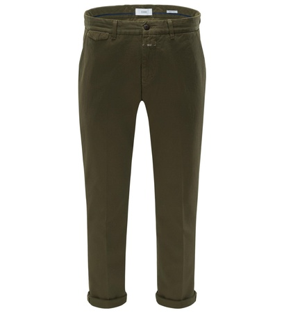 Closed Chino 'Atelier Cropped' dark olive grau