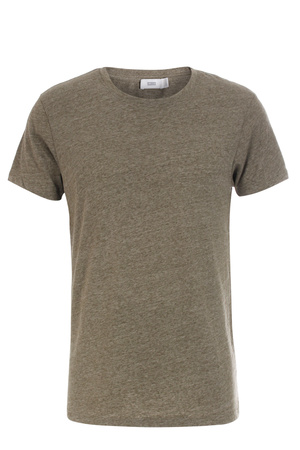 Closed  T-Shirt Meliert Olive Herren Farbe: olive verfügbare Größe: M|L|XL|XXL braun