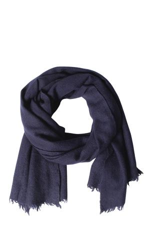 Closed  Woll Schal Mit Ausgefranstem Saum Ink Herren Farbe: dunkelblau verfügbare Größe: One Size grau