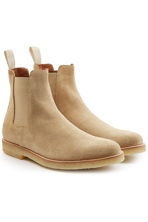 Common Projects  Chelsea Boots aus Veloursleder braun