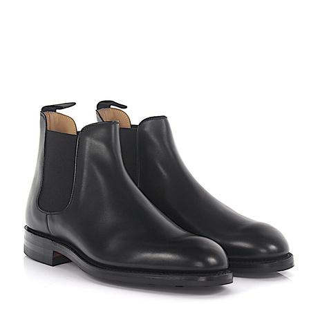 Crockett & Jones  Chelsea Boots CHELSEA 5 Leder schwarz grau