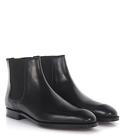 Crockett & Jones  Chelseaboots Cowdray Leder schwarz schwarz