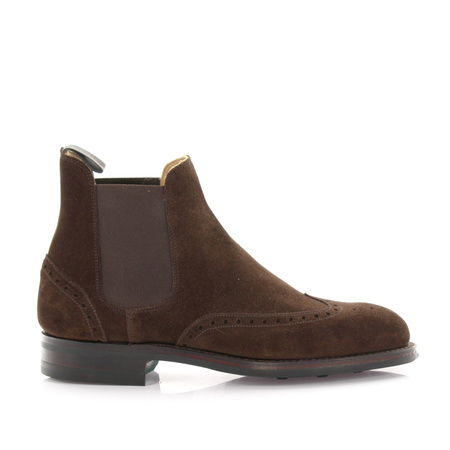 Crockett & Jones  Chelseaboots Newbury Veloursleder braun braun