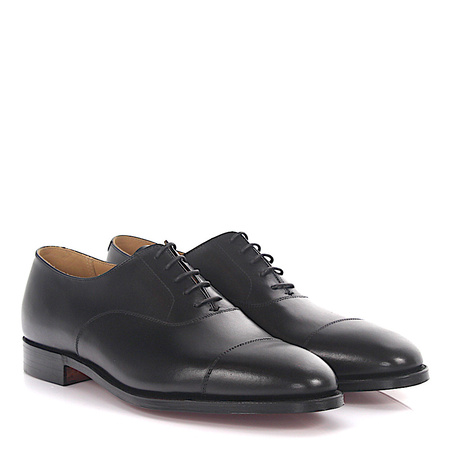 Crockett & Jones  Oxford Connaught Leder schwarz Goodyear Welted grau