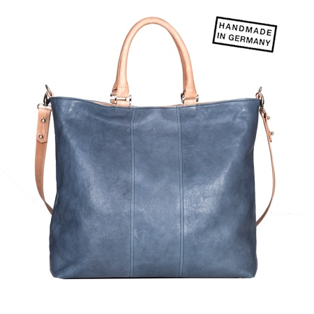 Diana Germany CHARLY Shopper Nappaleder Jeansblau grau