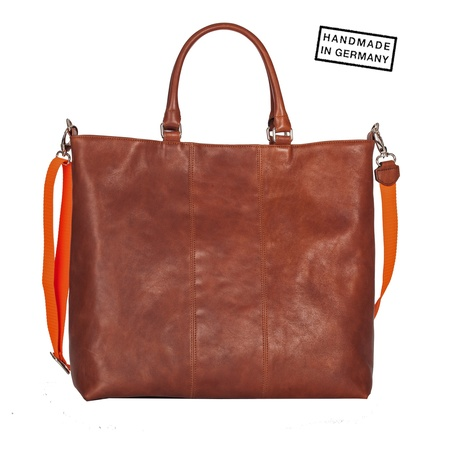 Diana Germany CHARLY Shopper Rindleder Cognac braun