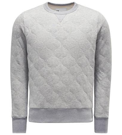 DoppiaA R-Neck Sweatshirt 'Aamerican' hellgrau grau