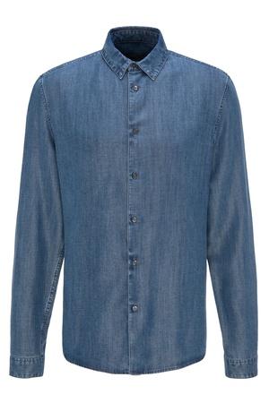 Drykorn  Herren Hemd RUBEN blau Gr. XL grau