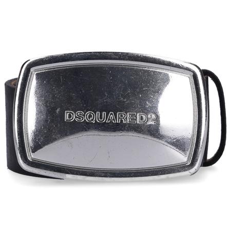 Dsquared2  Gürtel BEM0223 Kalbseder Usedlook logo negro grau